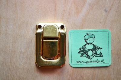 Kufríkový uzáver zlatý + 4skrutky