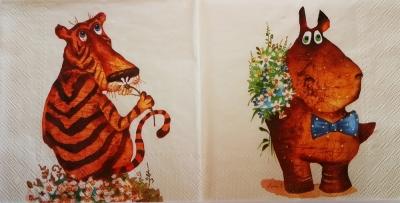 Hrošík a tigrík medzi kvetinkami