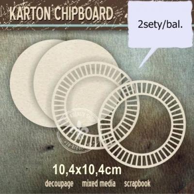 Chipboard Kruh s panelom