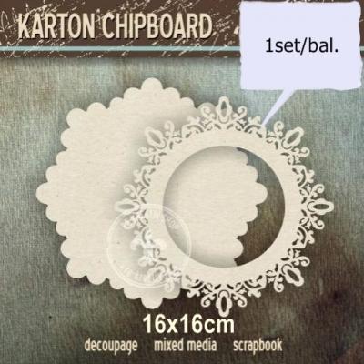 Chipboard Čipkovaný kruh s panelom