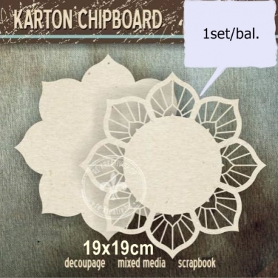Chipboard Rozeta s panelom