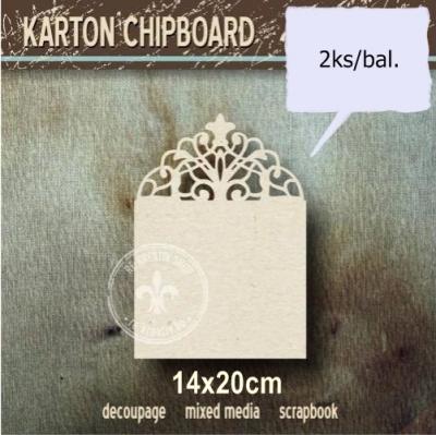Chipboard Štvorec s čipkou