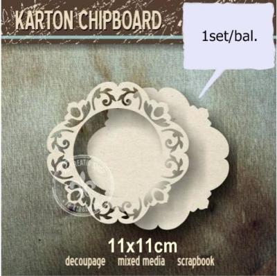 Chipboard Ozdobný kruh s panelom