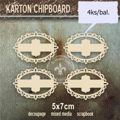 Chipboard Ozdobný štítok