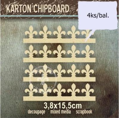 Chipboard Pásy francúzskych ľalií