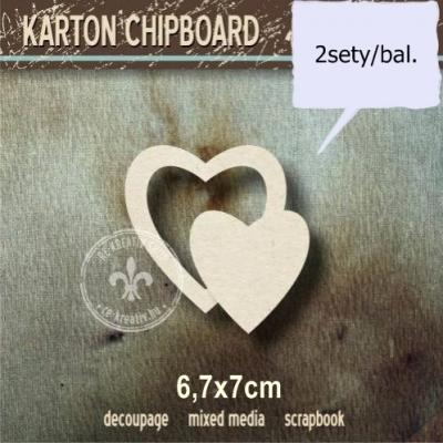 Chipboard Srdiečko v srdiečku