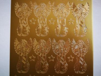 Samolepka anjelici zlatí