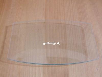 Sklenený tanier zaoblený obdľžnik 17x32cm