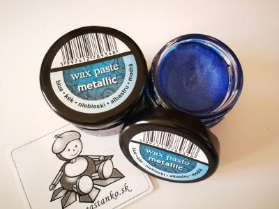 Vosková pasta metalická modrá 20ml