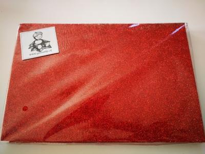 Dekorguma samolepiaca trblietavá červená
