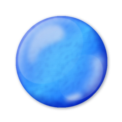 Dekoračné 3D pero priezračné turmalínovo modré