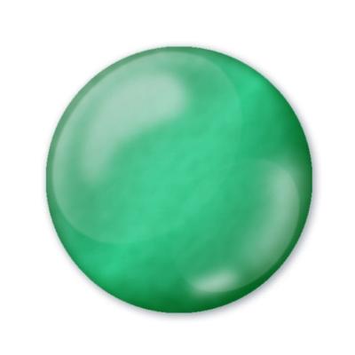 Dekoračné 3D pero priezračné smaragdovo zelené