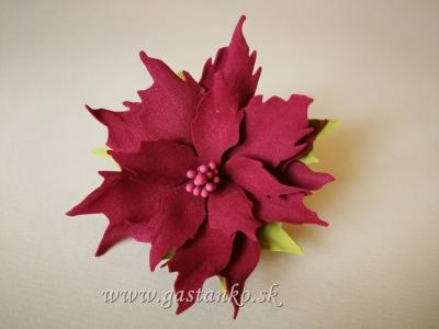 Kreatívny set - Vianočné ruže 3ks bordové