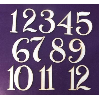 Čísla na hodiny 1až12 3cm