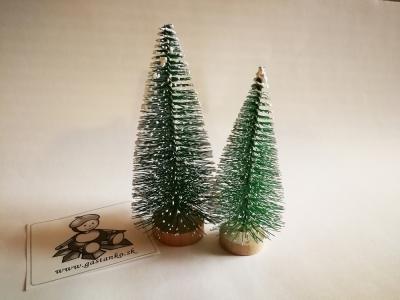 Dva stromčeky zasnežené zelené 8 a 10cm