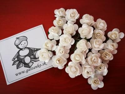 Ružičky 16mm 5ks biele