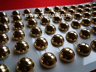 Samolepiace polperličky zlaté 10mm