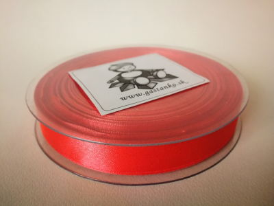 Saténová stužka 16mm melónovočervená