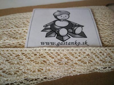 Bavlnená čipka béžová