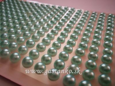 Samolepiace polperličky 5mm perleťové mätové