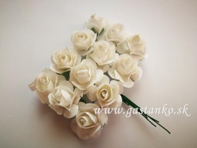 Ružičky 20mm 12ks biele