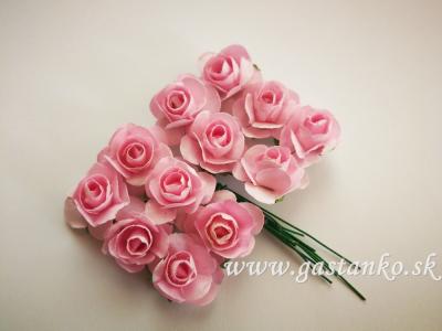 Ružičky 20mm 12ks ružové