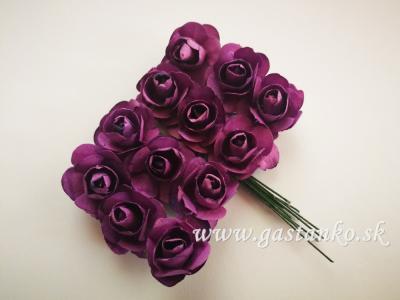 Ružičky 20mm 12ks fialové
