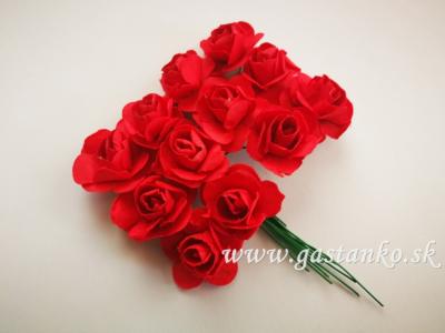 Ružičky 20mm 12ks červené