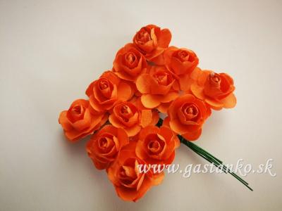Ružičky 20mm 12ks oranžové