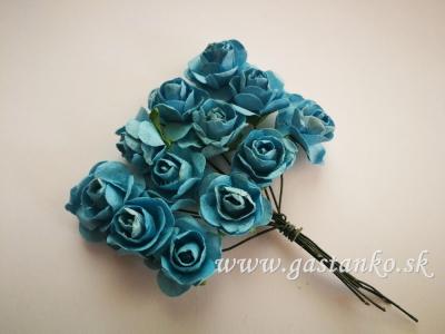 Ružičky 20mm 12ks modré