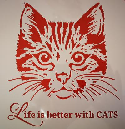 Šablóna S mačkou je život krajší