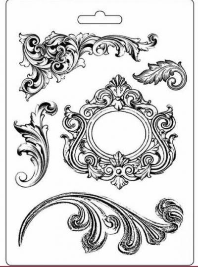 Odlievacia forma plytká Ornamenty