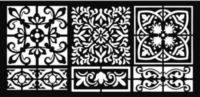 Šablóna Vzorované dlaždičky