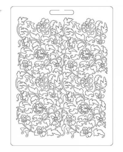 Odlievacia forma plytká Kvetová textúra
