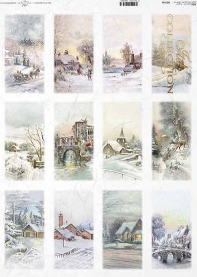 Zimné krajinky na kartičkách