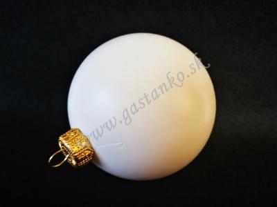 Biela plastová guľa 6cm