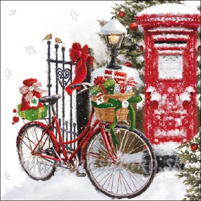 Bicykel v snehu