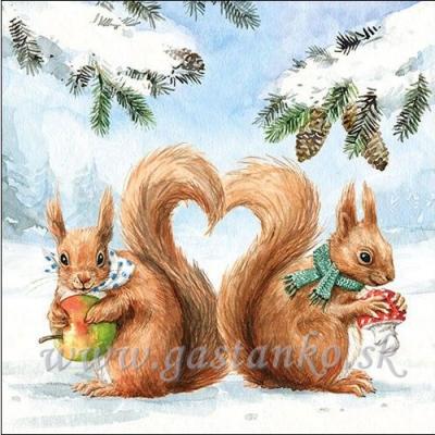 Zaľúbené veveričky