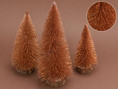 Trblietavé stromčeky 3-set bronz