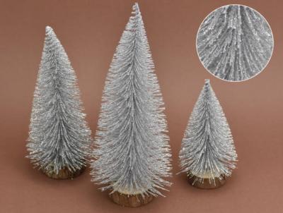 Trblietavé stromčeky 3-set strieborné