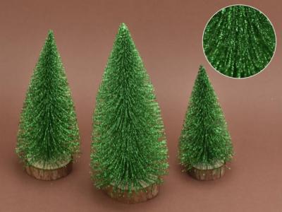 Trblietavé stromčeky 3-set tmavozelené
