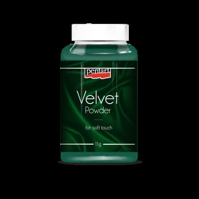Velúrový prášok zelený
