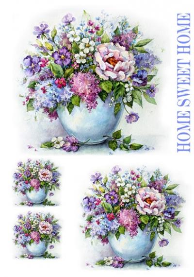 Pestré kvety vo váze