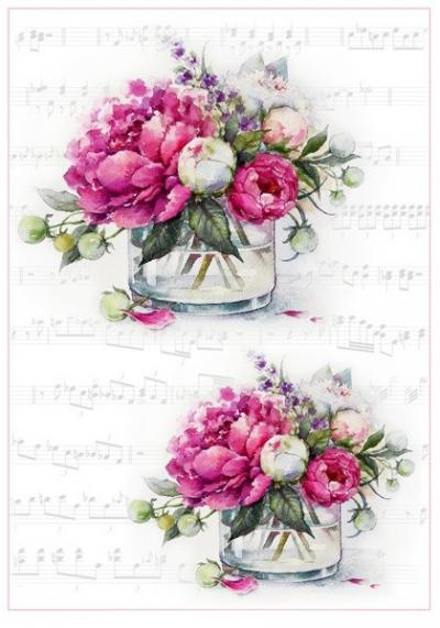 Ružové pivonky vo váze