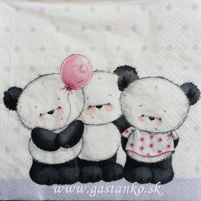 Tri malé pandy