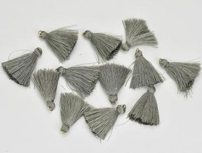 Textilný strapček strieborný