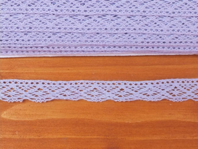 Bavlnená čipka levanduľová