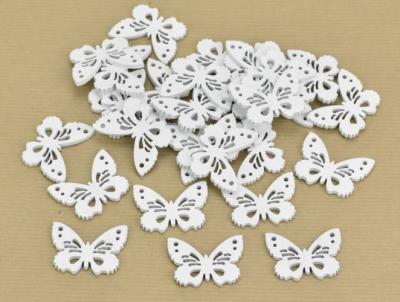 Biely motýlik 4cm