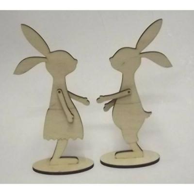 Párik zajačikov 3D