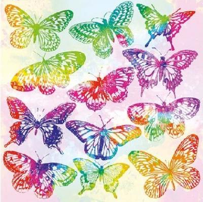 Motýliky akvarel